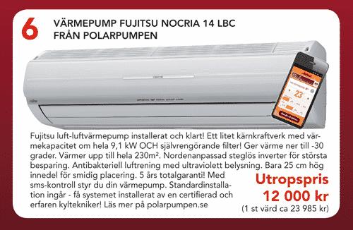 Auktion Fujitsu Nocria 14, AirPatrol och Standard-installation