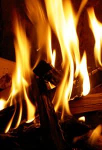 Värmepumpen kan sprida värmen från brasan