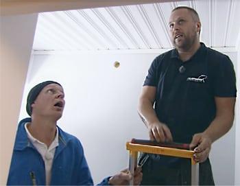 Polarpumpen installerar en Airmove 1.1 hemma hos familjen Sandberg.