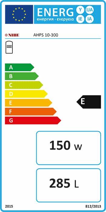 energimarkning för ackumulatortank