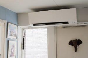 Värmepump på nedervåningen från Daikin