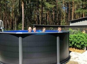 Så köpte familjen sin pool och poolvärmepump från Polarpumpen